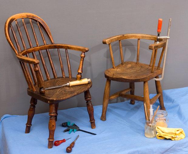 Foto: Restaturering av stoler